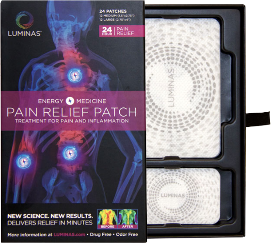 original luminas pain relief patches