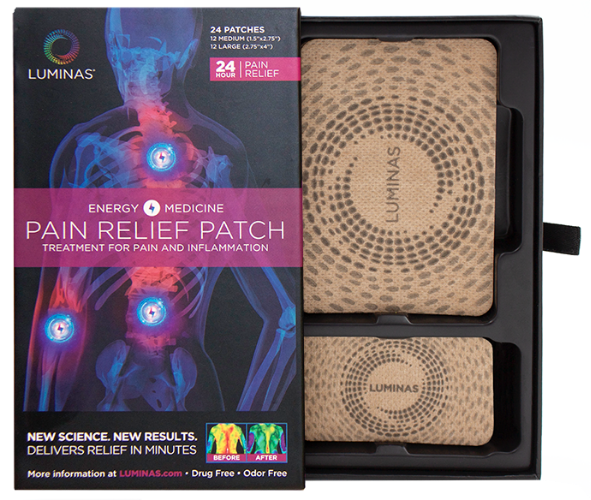 tan luminas pain relief patches